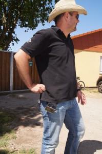 Horst Dederich mit seinen SF-2 Geräten - Backmount wie Sidemount