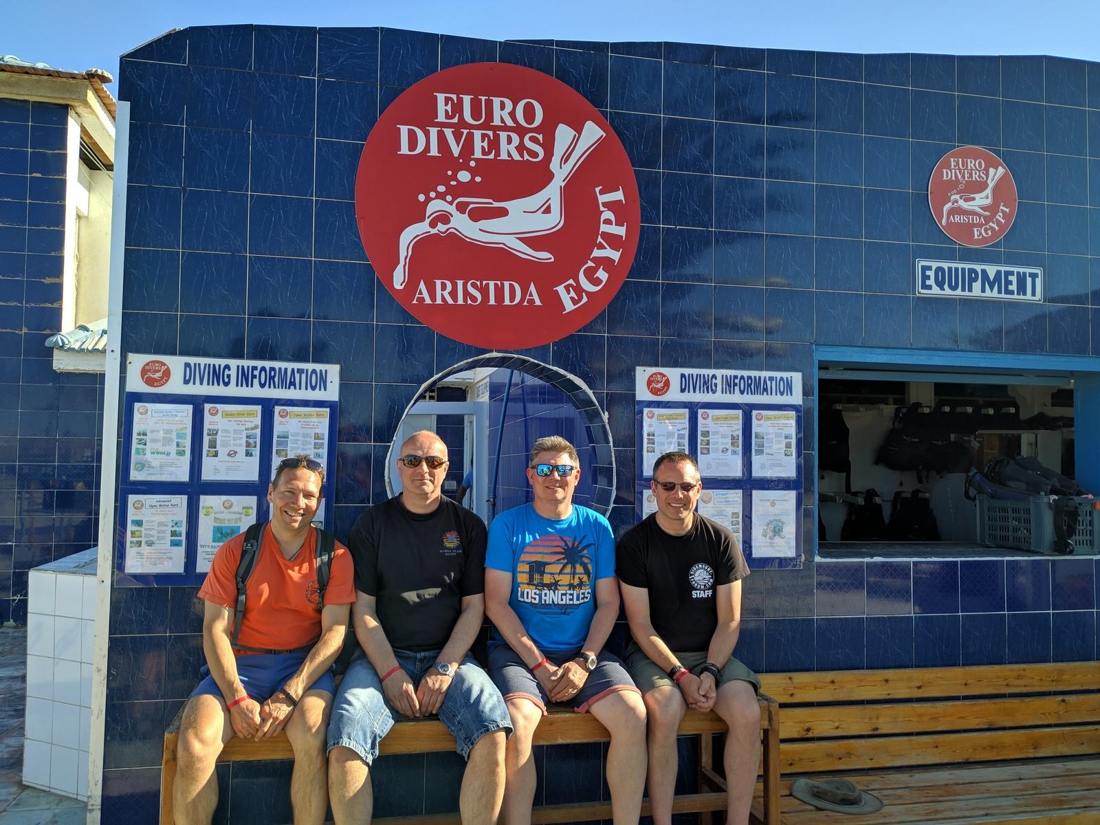 Jochen, Manne, Roby und Martin