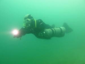 Sidemount im Baggersee